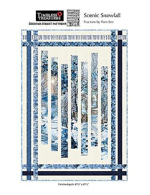 Scenic Snowfall Fracture Quilt Kit Pattern By Pam See Cotton Metallic Fabric