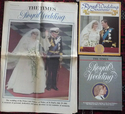 Original The Times 30.7.81 Royal Wedding Prince Charles Lady Diana + supplements