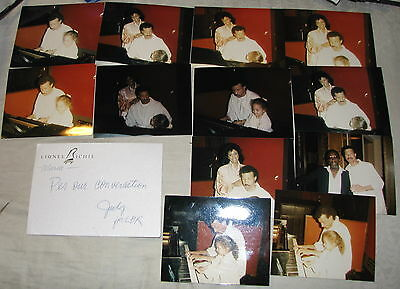 12 Lionel & Nicole Richie in Studio Photographs with Written Note by Lionel