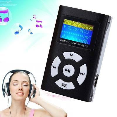 MP3 Music Player With Digital LCD Screen Mini Clip Support 32GB Micro SD TF IJ