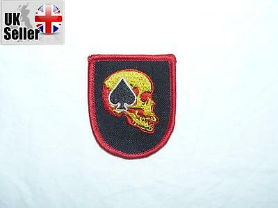 Ace of spades skull Iron on/ Sew on Patch Biker Motorcycle