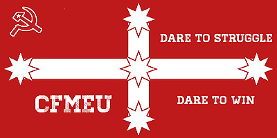 The Construction, Forestry, Mining & Energy Union CFMEU Australia Union Ensign