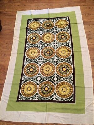 Vintage Floral Table Cloth 1950's  1960s 70's