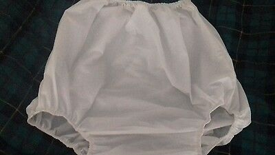 Adult baby soft white forward facing legs  vinyl  pants/nappy covers