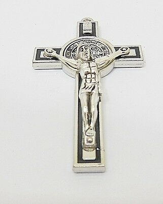 10X Enamel Black Charm Cross Pendant Jewellery Finding 7.3x4.2x1.2cm