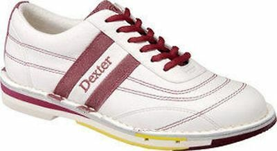Dexter SST Womens Size 5.5 Red White Leather Bowling Shoes Left Hand Reg $99.99
