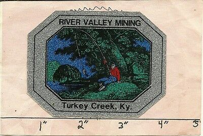 """River Valley Mining (Kentucky) - Hard Hat- Coal Mining Sticker-Decal """"old"""""""