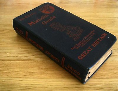 1930 Vintage Michelin Guide Gt Britain 8th Edition Hardbacked Book Motorist Maps