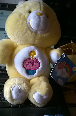 """13"""" PLUSH YELLOW BIRTHDAY CARE BEAR complete with all 2002 tags"""