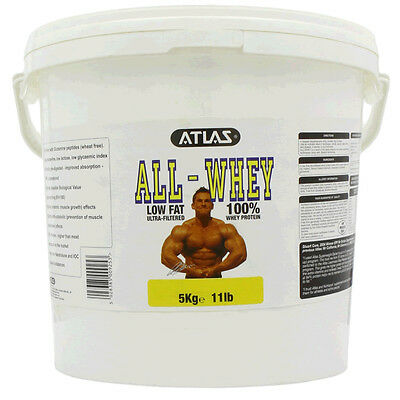 Atlas All Whey Protein Powder Shake - 5Kg All Flavours - Lean Protein