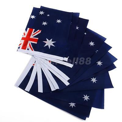 Lot 12x Australian Flag Australia National Flags Hand Waving Flag with Poles