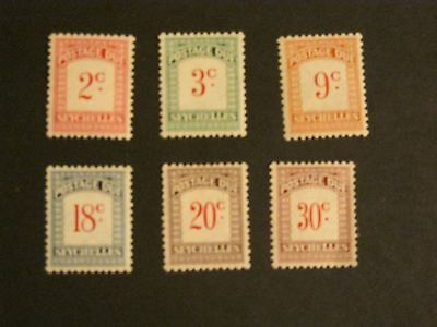 Seychelles m/m postage dues collection