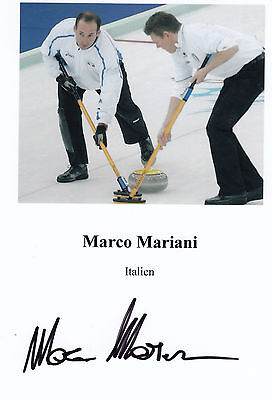 Olympia 2006 - Curling - MARCO MARIANI  **sign**