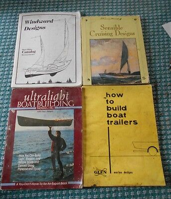 Boat Building Books - lot of 4 (includes boat trailer plans)