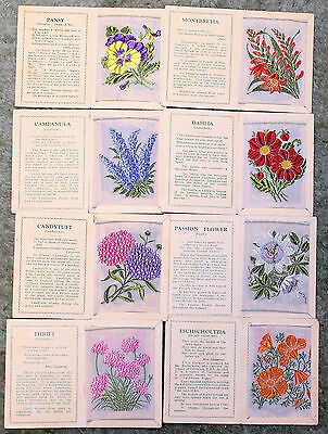 A collection of eight Kensitas embroidered flower cards.