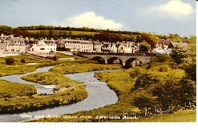 1975 ELLON and River Ythan from Riverside Road - bridge, houses at back