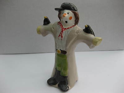 stuart bass scarecrow with boots  pie funnel/bird  discontinued