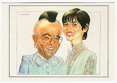 Cp Caricature Mustacchi Star Spectacle - Yves & Veronique Mourousi Punk Iroquois