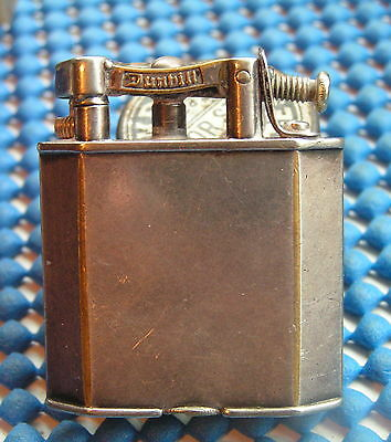 Rare 1930s Silver Art Deco Dunhill Bevel Sided Unique plated Lighter