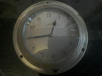 Vintage car frontwinding dashboard clock