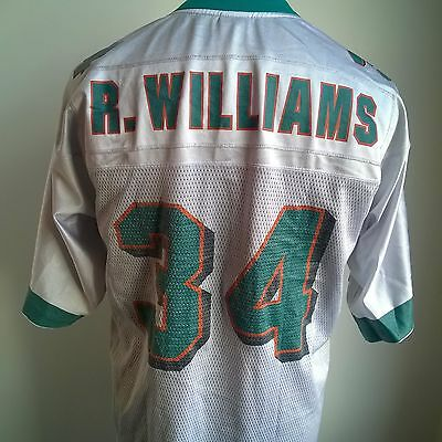 Miami Dolphins Away Nfl Football Shirt #34 R. Williams Reebok Size Adult M