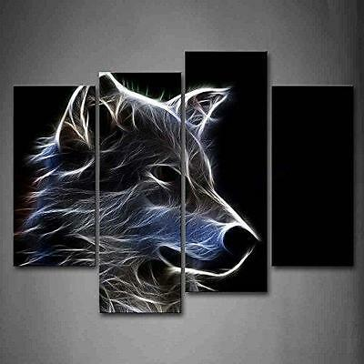 Grey Wolf Wall Art Painting Pictures Print On Canvas Animal The Picture For New