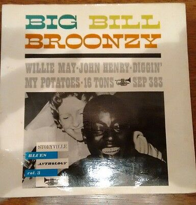"Big Bill Broonzy: Blues Anthology vol.3 (7"" vinyl EP) Storyville SEP 383"