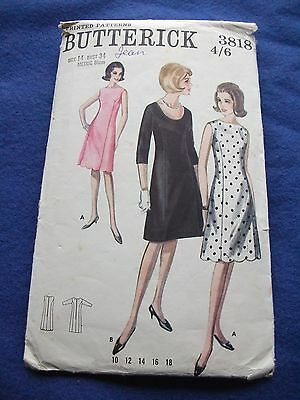 Vintage Butterick Sewing Pattern - Lady's Dress In 2 Versions   Size 14