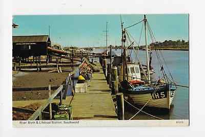 Printed Postcard Southwold Suffolk River Blyth and Lifeboat Station Jetty 1978