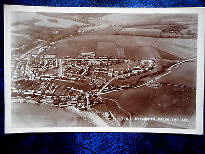 Eyemouth From The Air,Real Photograph Postcard.Berwickshire.
