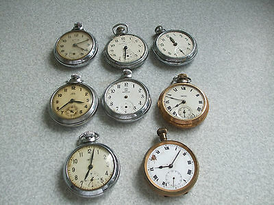 Job Lot Vintage Pocket Watches- Spares / Repairs- Smiths , Ingersoll, Services
