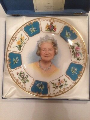 Royal Doulton Queen Mother 90th Birthday Plate. Limited Edition. Boxed.
