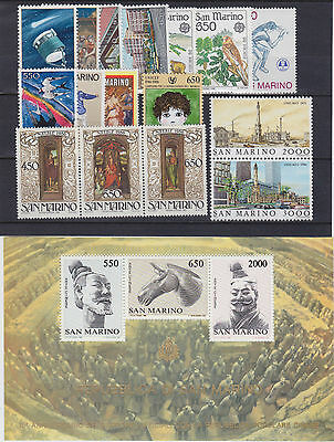 SAN MARINO 1986 complete yearset with s/s MNH / G79160 / M8