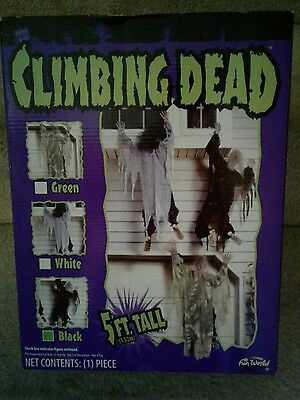 CLIMBING DEAD ZOMBIES Halloween Decoration Halloween Prop, New in Box 5 ft tall