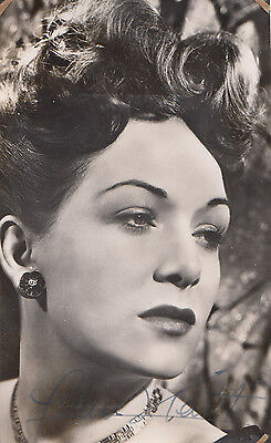 Jean Kent Hand Signed 1950s Vintage Official Fan Club Photo