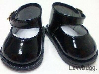 "Black Mary Janes for American Girl 18"" Doll Shoes or Baby Lovvbugg TRUE US SELLR"