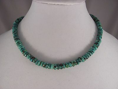 Navajo Stabilized Turquoise Necklace by Isabelle John