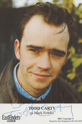 Todd Carty Mark Fowler BBC Eastenders Hand Signed Cast Card Photo