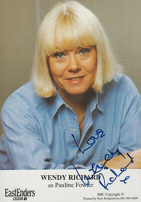 Wendy Richard Pauline Fowler BBC Eastenders Hand Signed Cast Card Photo