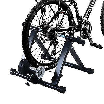 Bicycle Bike Cycle Trainer Exercise Magnetic 5 Level Resistance Home Gym
