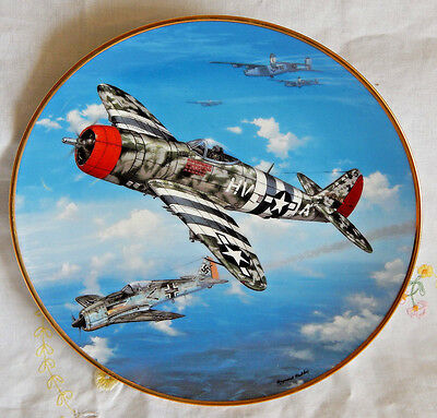 """'P-47 Thunderbolt' Great Fighter Planes of World War II Plate 8-1/4"""" (R. Waddey)"""
