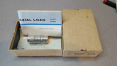 Hewlett Packard HP Model 908A Coaxial Termination 50 Ohms, New, Original Box