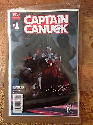 Captain Canuck #1 Cover B by Andrasofszky Nm Signed By Ed Brisson