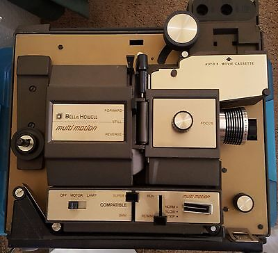 VTG BELL & HOWELL 469A Multi-Motion 8mm/Super 8mm Auto Load/Rewind Projector