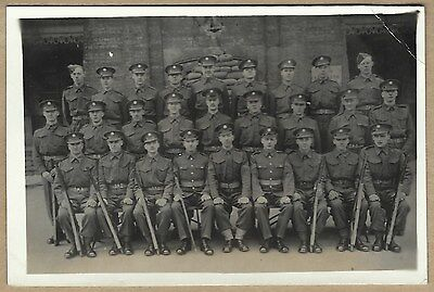 WW2 era Real Photo Postcard - Group of soldiers - Guards ?