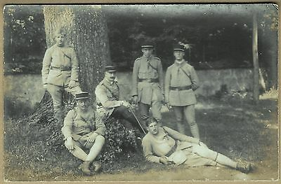 WW1 Real Photo Postcard - French Soldiers of the 117th Regiment