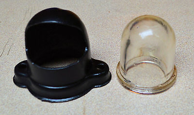 Vintage License Plate Light  Metal and Glass  1940s, 50s