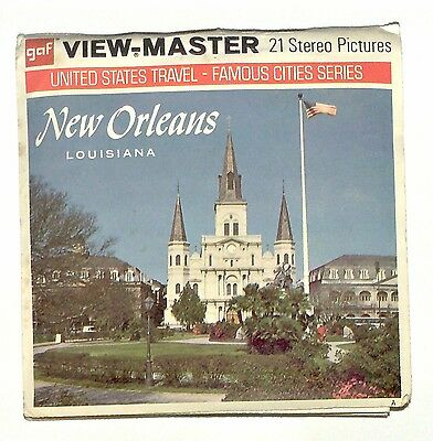 vintage GAF View Master NEW ORLEANS LOUISIANA reel set TRAVEL usa viewmaster old