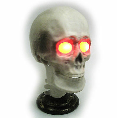 Animated Talking Skull Lighted Scary Skeleton Haunted House Halloween Party Prop