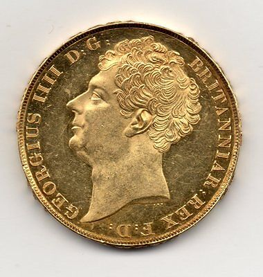 1823 Gold Two Pound, George Iv (Possibly Struck From Proof Dies)